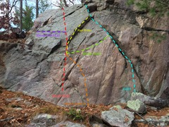 Rock Climbing Photo: The Upper Guardrail Ridge bouldering wall.