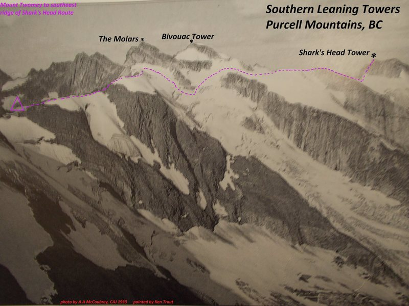 Rock Climbing Photo: Mt Twomey Traverse Route, western half. None of th...