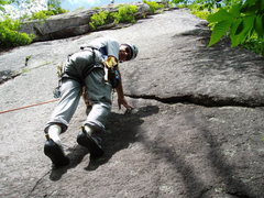 Rock Climbing Photo: STARTing up P1 of Bolt-in-the-Sky