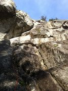 Rock Climbing Photo: Jonas crushing through the bolted crux. Awesome ho...