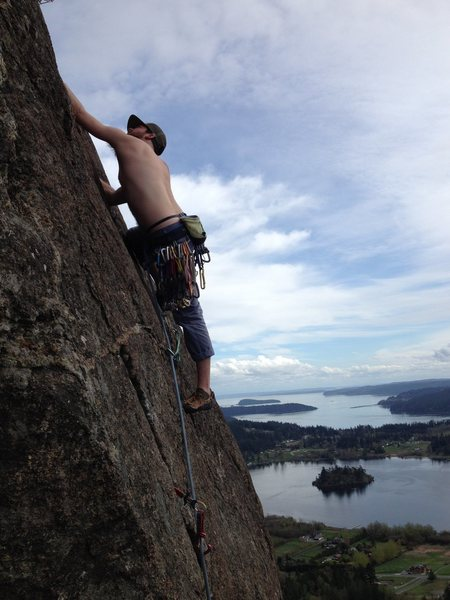 Rock Climbing Photo: John gettin some jams above the traverse into the ...