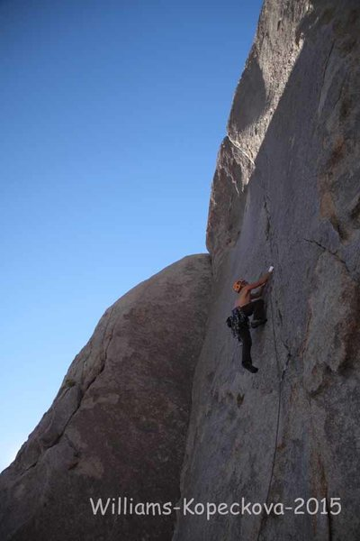 Rock Climbing Photo: Dow Williams leading Bird on Fire