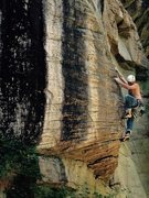 Rock Climbing Photo: Stand and Deliver 5.11a Hudson Mountain Cowell, Ar...