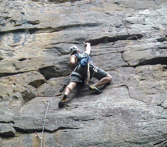 Rock Climbing Photo: Hudson Hangover 5.10a Hudson Mountain Cowell, Arka...