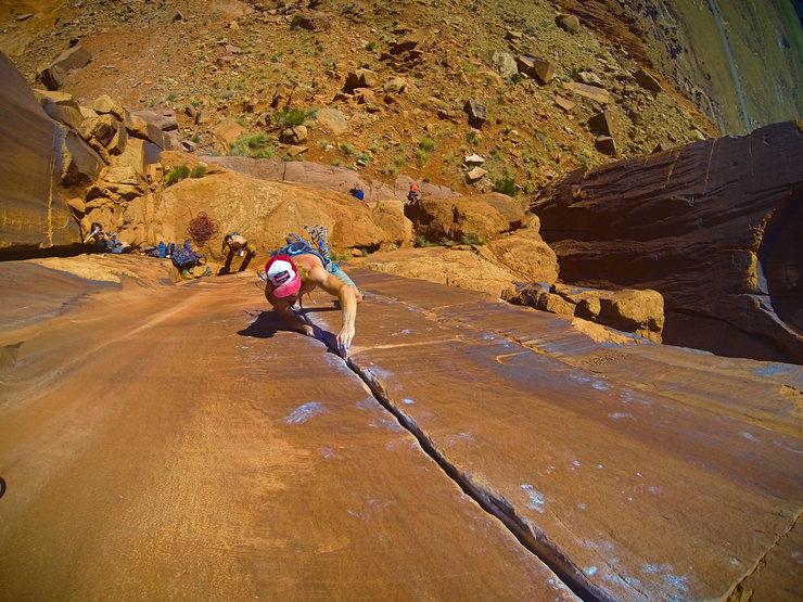 Rock Climbing Photo: flight time