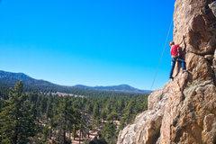 Rock Climbing Photo: Stephen nears the top.