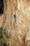 Rock Climbing Photo: Long and consistent climbing on a faint arête mak...