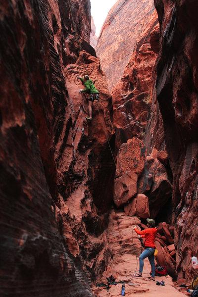 Rock Climbing Photo: Shawn on Vagabonds.