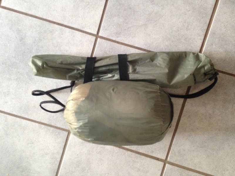 Bivy sack packed
