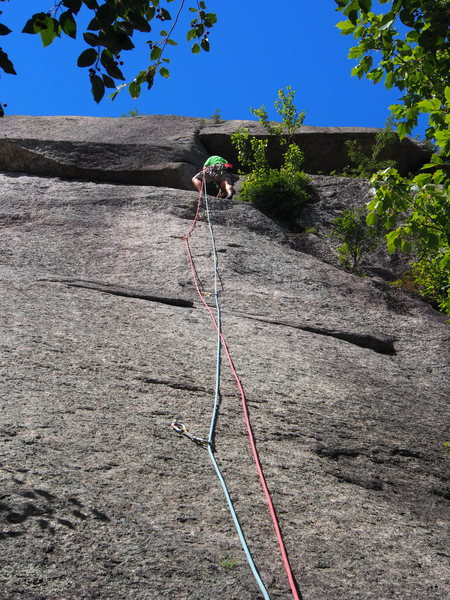 Rock Climbing Photo: Bullit - the Alt. Slab Start  Bullit OH above andf...