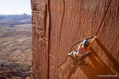Rock Climbing Photo: Mary Eden onsights Run Like Hell, a fun traversing...