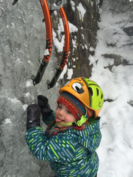 Rock Climbing Photo: Tasting the ice