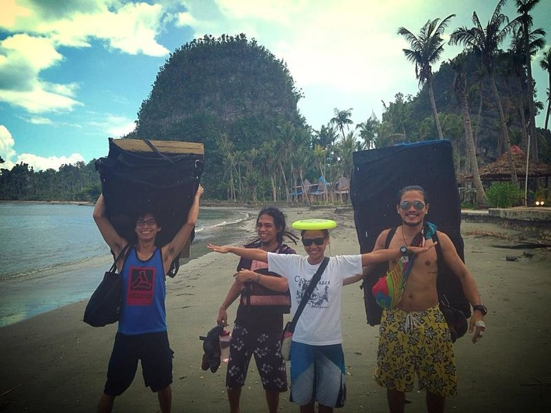 Rock Climbing Photo: bouldering with the crew in Samar, Philippines