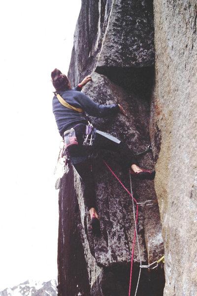 Rock Climbing Photo: Grant Walker Working through the crux of Fatal Fla...