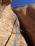 Rock Climbing Photo: A close up of the climb and crack.