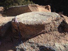 Rock Climbing Photo: Full Moon anchor block.