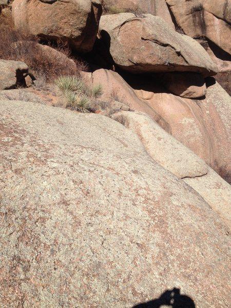Chicken Boulder descent area.