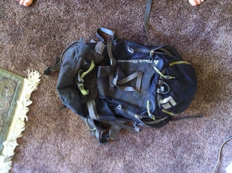 Rock Climbing Photo: Black Diamond Axis 33 with Crampon Pouch