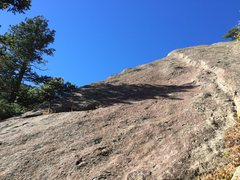 Rock Climbing Photo: Side view of Thinquisition while hiking down the g...