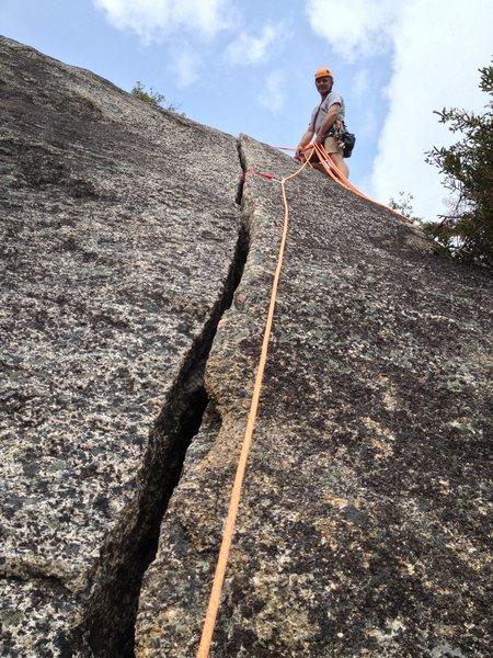 Ben Miller atop Sea of Green's second crack
