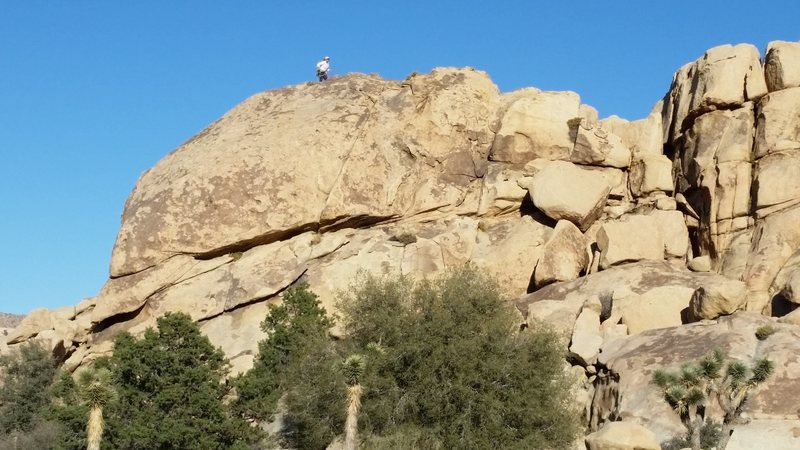 Rock Climbing Photo: The south face of Reverb Rock as viewed from the r...