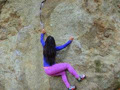 Rock Climbing Photo: Mia starting out..