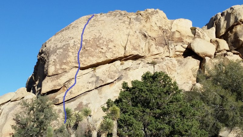 Rock Climbing Photo: The line of White Noise on Reverb Rock.