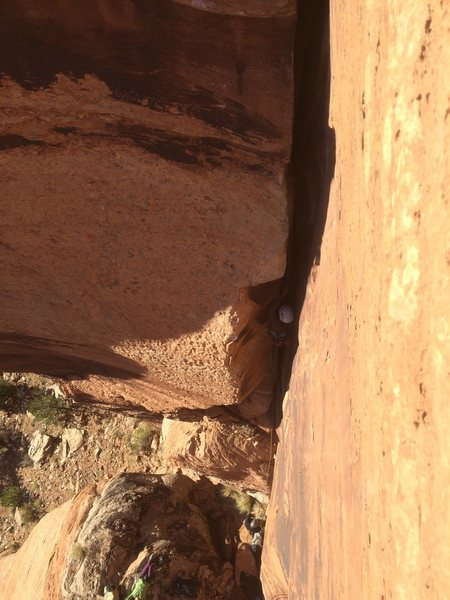 Rock Climbing Photo: Moving up The multi crack corner