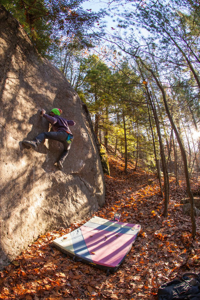 Rock Climbing Photo: The amazing 'Midnight In A Perfect World' (v9/10).