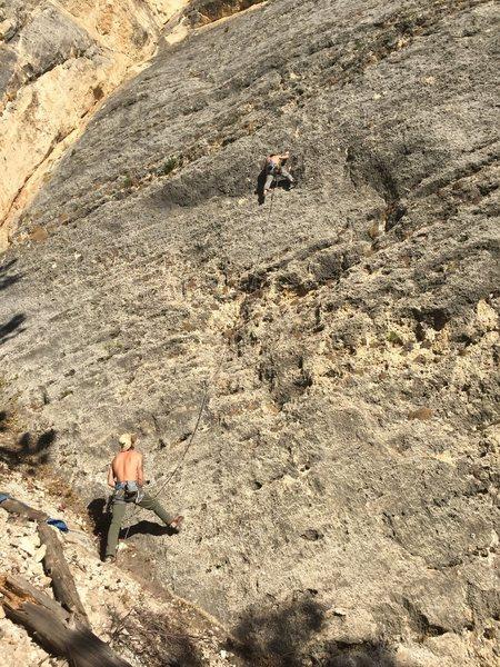 Rock Climbing Photo: Terry Twomey leading Blame it on El Nino.