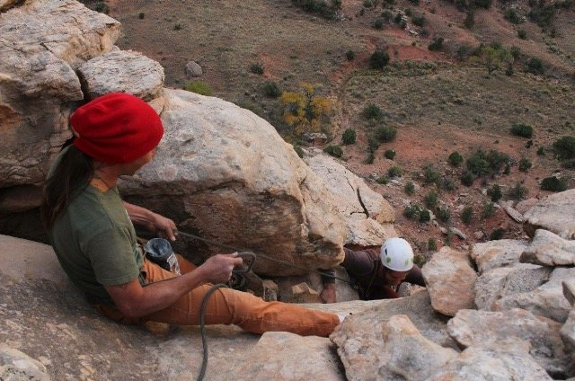 Rock Climbing Photo: At the top of be a unicorn accessing the rim