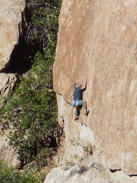 """Rock Climbing Photo: Successfully pulling the roof on """"Intellitoys..."""