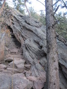 Rock Climbing Photo: Fourth Flatironette as seen from the Royal Arch tr...