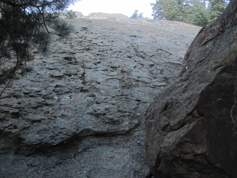 """The central area of """"Lost"""", just to the right of the SE Ridge. Fun potholes on this section."""