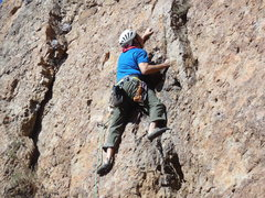 Rock Climbing Photo: Exploring the choss on the Sumac Route.