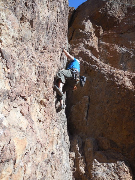 Rock Climbing Photo: Enjoying B-Line.