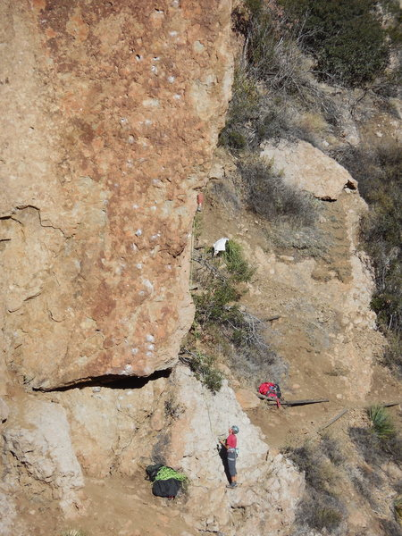 "Rock Climbing Photo: Climbers on ""Restrain This."""