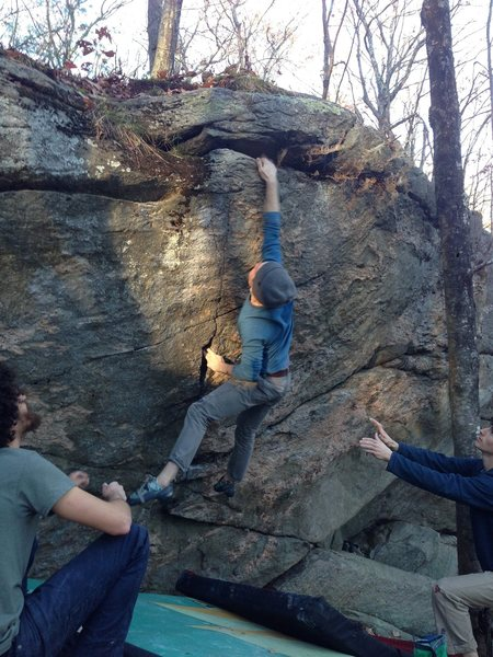 Rock Climbing Photo: punting off an attempt to repeat Ego Feeder after ...