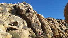 Rock Climbing Photo: Jim Voss leading Dike Walk. Rich Hoover on belay.