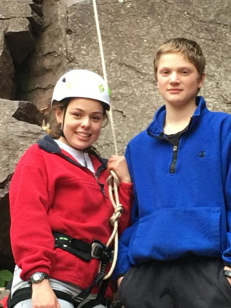 Victoria and Tony- First Climbs!