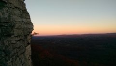 Rock Climbing Photo: Sunset near the top of Dennis