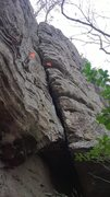 Rock Climbing Photo: The Crack after you top out of the alcove