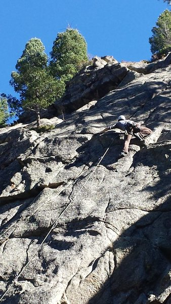 Newer unknown 5.11 on left side of Oceanic.  Fun route!