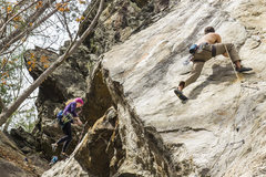 Rock Climbing Photo: Ryan Webster on the cool heel hook clip of Anacond...