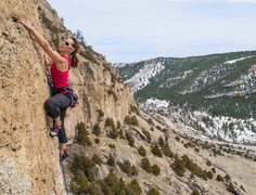 Rock Climbing Photo: Liz Lightner doing the first ascent of Frogger