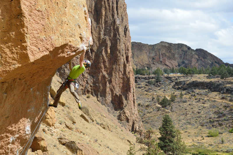 Rock Climbing Photo: The upper portion of Chain Reaction - September 20...