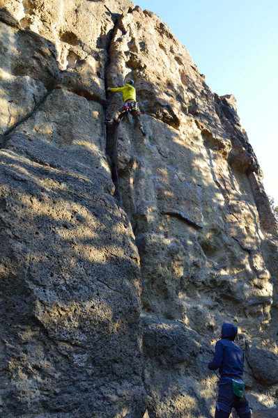 Rock Climbing Photo: Rope-de-Dope Crack 5.8 - September 2015