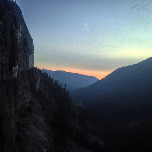 topping out on Haystack, Lovers Leap, South Lake Tahoe