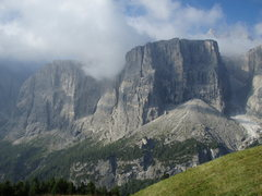 Rock Climbing Photo: Torre Exner from across the Valley. The route asce...