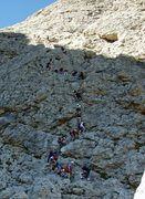 Rock Climbing Photo: It can get crowded in August - especially on this ...
